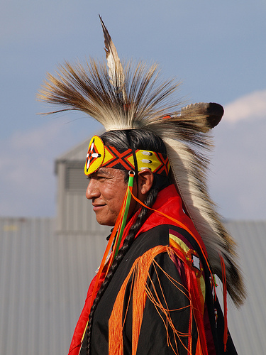 Native American Man in Tribal Dress