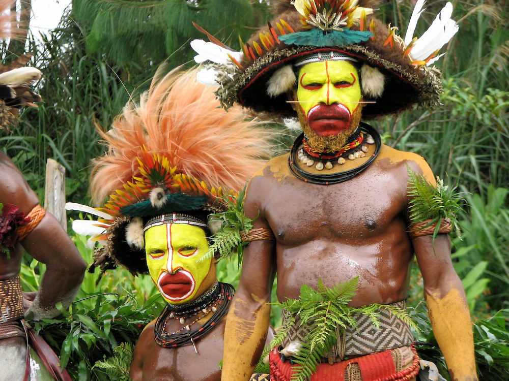 Visage Huli Male Warriors - Papua New Guinea