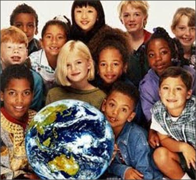 Multiracial children of the World