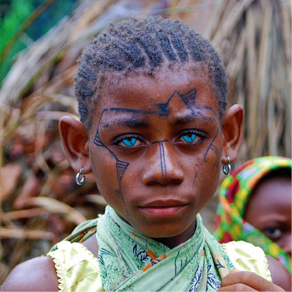 Blue Eyes of Papua New Guinea